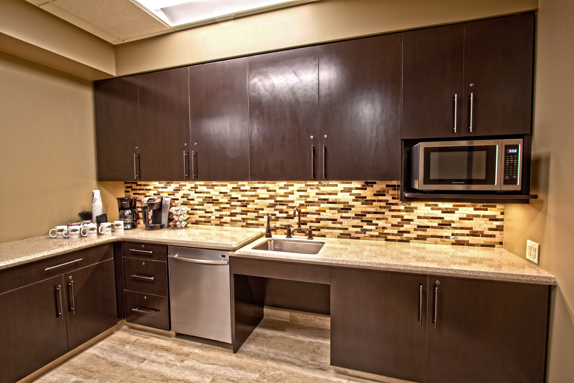 Our Break Room is designed for you and your guests!